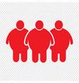 fat people icon design vector image