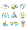 Fitness and Body Care Icons vector image