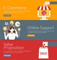 Flat design concept for e-commerce online support vector image vector image
