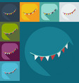 flat modern design with shadow icons garland vector image vector image