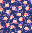 Floral pattern with roses and summer flowers vector image vector image
