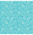 floral seamless pattern in blue vector image