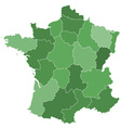 France regions vector image vector image