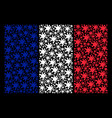 french flag mosaic of blot items vector image