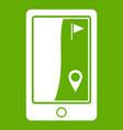 golf course navigator icon green vector image vector image