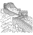 great wall china sketch doodle vector image vector image