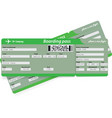 green pattern of two airline boarding pass tickets vector image vector image