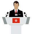 Hong Kong speaker vector image