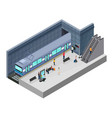 isometric subway station concept vector image vector image