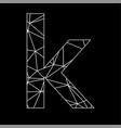 k geometric triangle blockchain font vector image vector image
