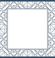linear geometry background with frame vector image vector image