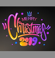 merry christmas 2019 year greetings card vector image vector image