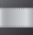 Metal background Black and silver steel background vector image