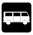 Minibus button vector image vector image