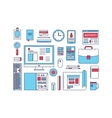 Modern design flat icon collection concept in vector image vector image
