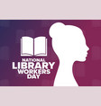 national library workers day holiday concept vector image vector image