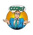 Oops surprised businessman vector image vector image