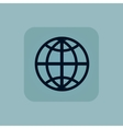 Pale blue globe icon vector image vector image