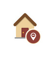 real estate pin symbol vector image