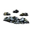 rocks stones set vector image vector image