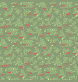 rowan berry seamless pattern in flat simple style vector image vector image