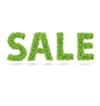 Sale text of green leaves vector image vector image