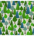 Seamless forest pattern Cartoon tree vector image vector image