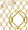 Seamless golden wire pattern vector image