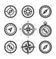 set compass icons vector image vector image