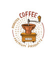 set of coffee modern vintage elements for the vector image vector image