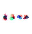 set of colorful elements design vector image