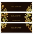 Set vintage abstract banner vector image