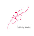 sign of infinity and hearts icon element of vector image vector image