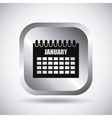 Silver calendar button design vector image