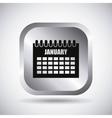 Silver calendar button design vector image