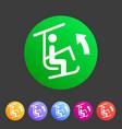 ski lift resort man icon flat web sign symbol logo vector image vector image
