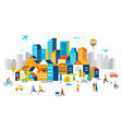 smart city landscape city centre with many vector image
