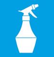 spray bottle for flower icon white vector image vector image