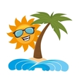 summer beach with palms vector image