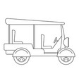 taxi rickshaw icon outline style vector image vector image