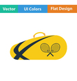 Tennis bag icon vector image