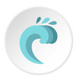 twist wave icon circle vector image vector image