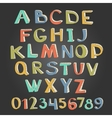 Unique alphabet and numbers vector image vector image