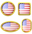 USA flag icon set vector image