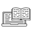 web reading icon outline style vector image