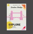 welcome to the london bridge uk explore travel vector image vector image
