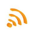 wifi internet social media isometric icon vector image