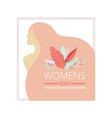 womens day floral greeting card with beautiful vector image vector image