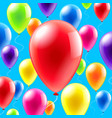 olorful balloons background vector image