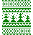Seamless winter pattern with fir-trees vector image